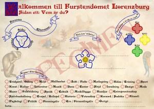 Character sheet specimen