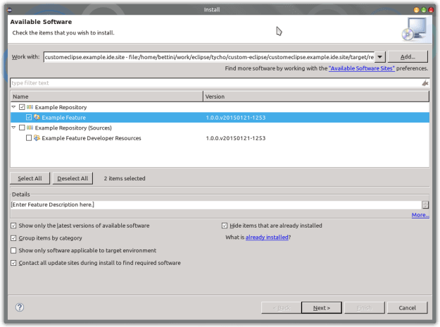 custom ide install new software force 1