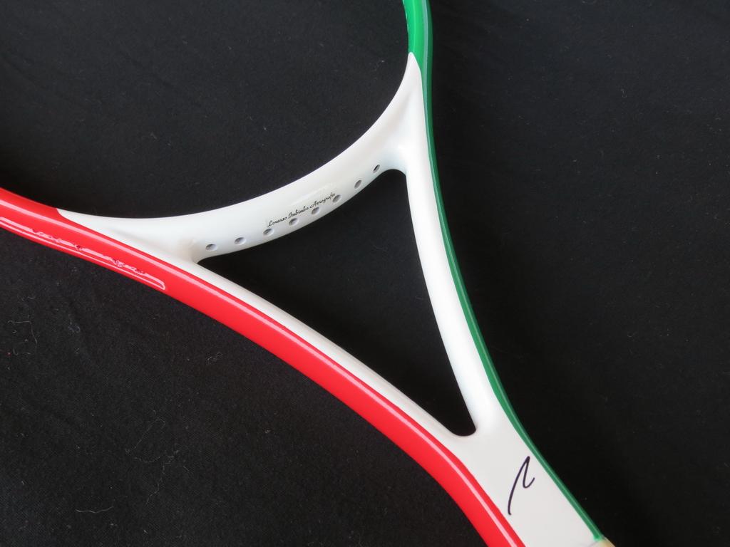 racchetta Tricolore con sigla del proprietario
