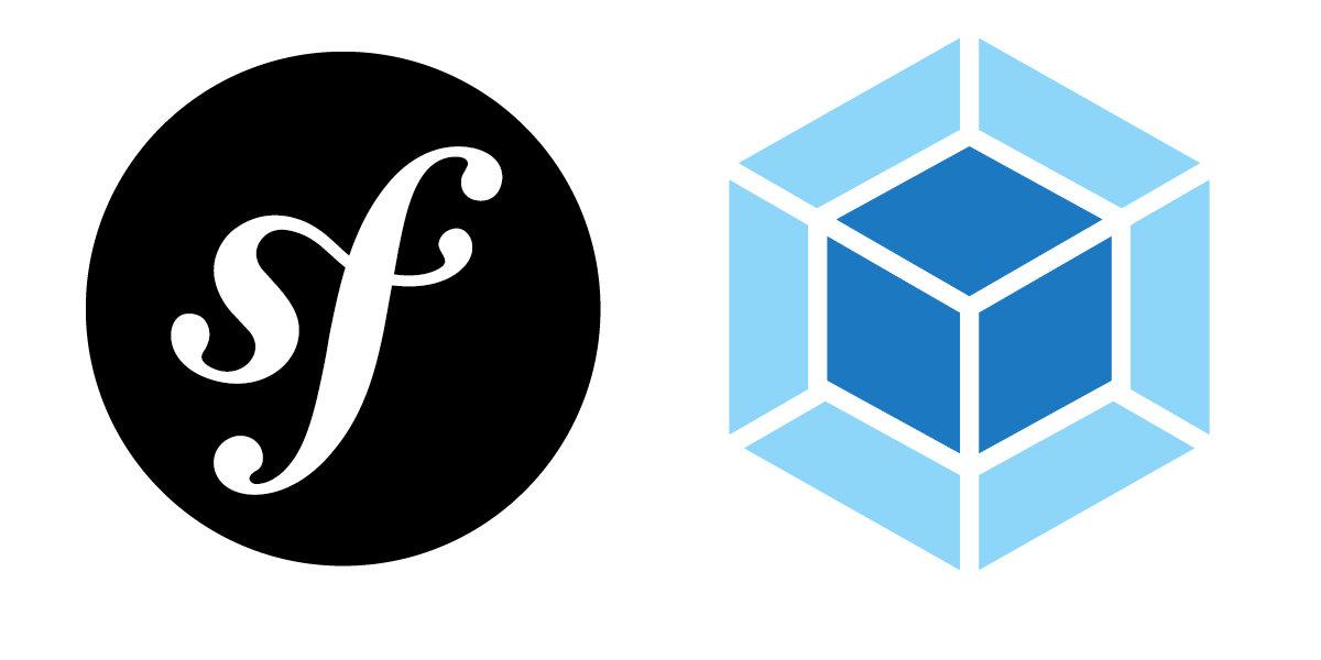 Symfony logo e webpack logo