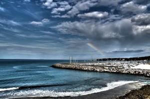Il Porto di Rosignano con arcobaleno