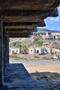 Edificio di cemento armato incompiuto sull'isola di Creta