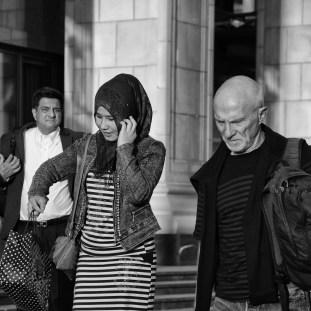 Gente in strada a Mosca