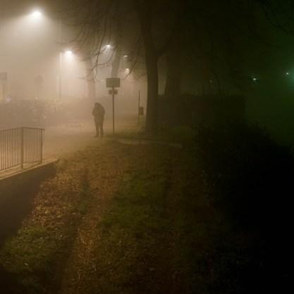 Quartiere le cure con Nebbia di Notte - Firenze