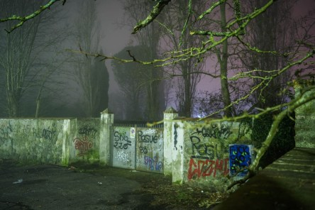 Quartiere le cure con Nebbia di Notte - Firenze-7