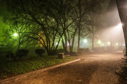 Quartiere le cure con Nebbia di Notte - Firenze-9