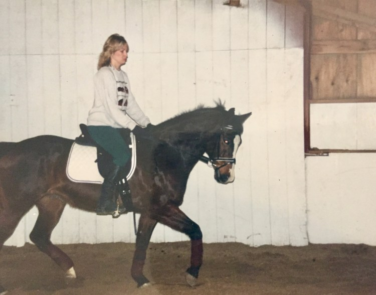 Practicing dressage with Willow