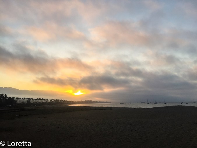 Catching the first morning light in Santa Barbara