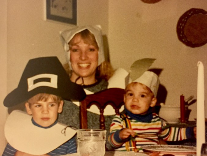 One year we made paper hats to be pilgrims for thanksgiving