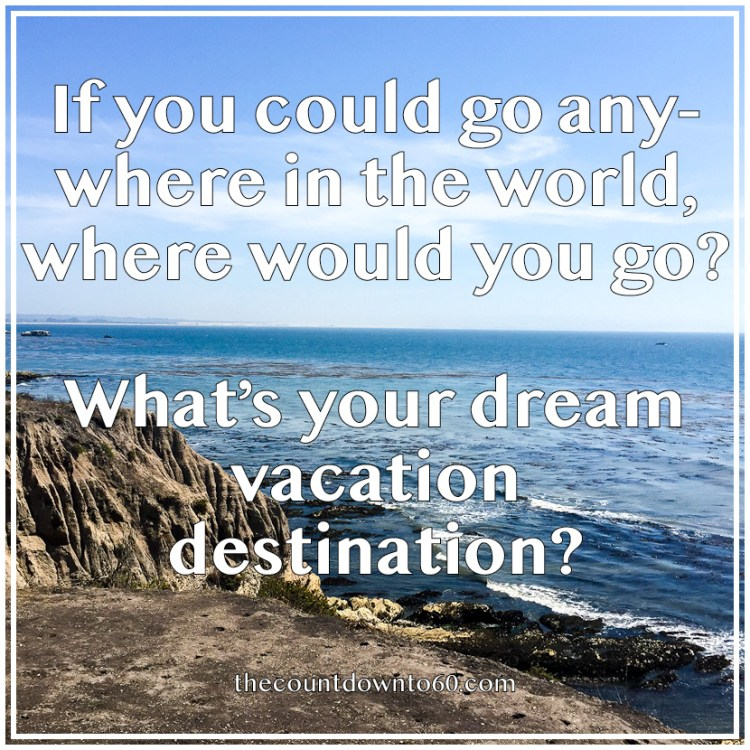 Where would you go if you could go anywhere in the world?