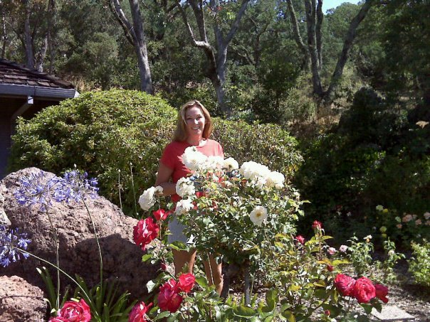 I loved working in the rose garden in Napa