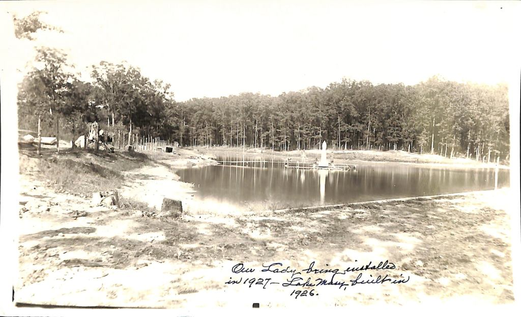 Historic Photo of Mary's Lake from 1927