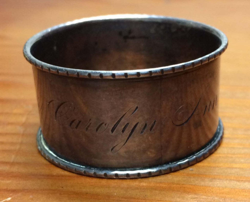 Napkin ring owned by a Sister of Loretto