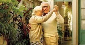 Elderly couple enjoying life after ketamine wannabe drug treatment.