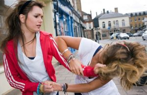Manic girl fights with friend so this teen exhibits signs of bipolar disorder.