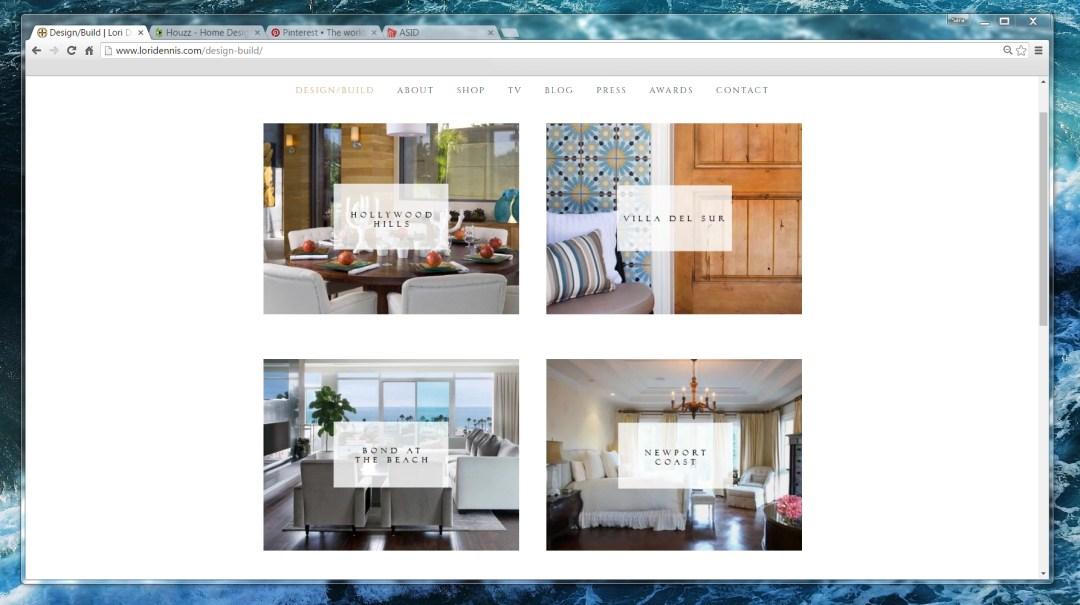 Designer Website Search Lori Dennis