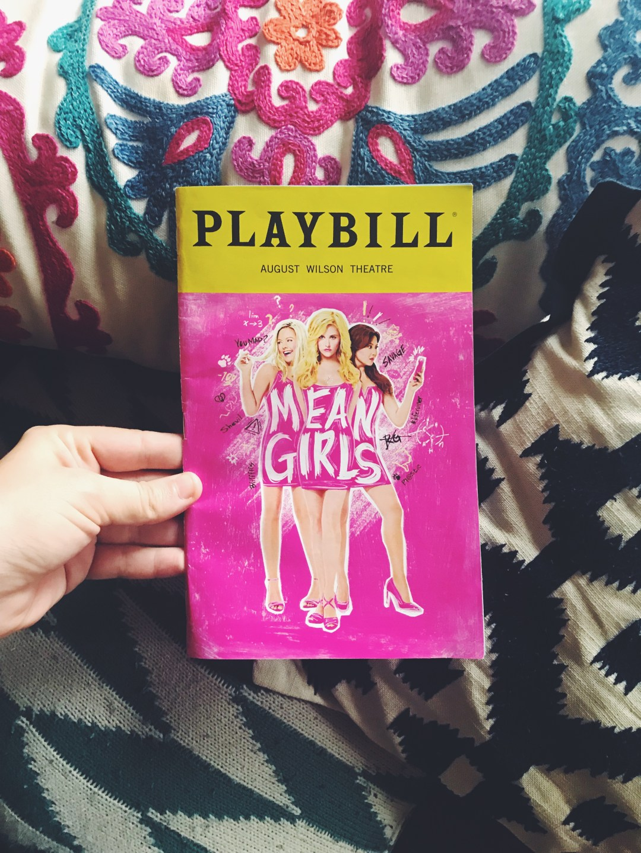 Mean Girls Playbill Courtney Porter