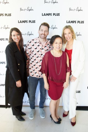 With My Lamps Plus Brand Ambassador buddies, Courtney Allison and Orlando Soria supporting Pen + Napkin