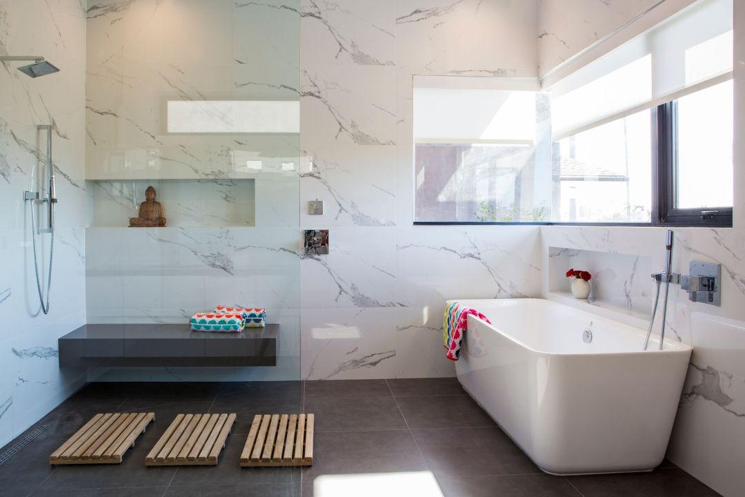 Venice Beach Modern Bathroom designed by Lori Dennis