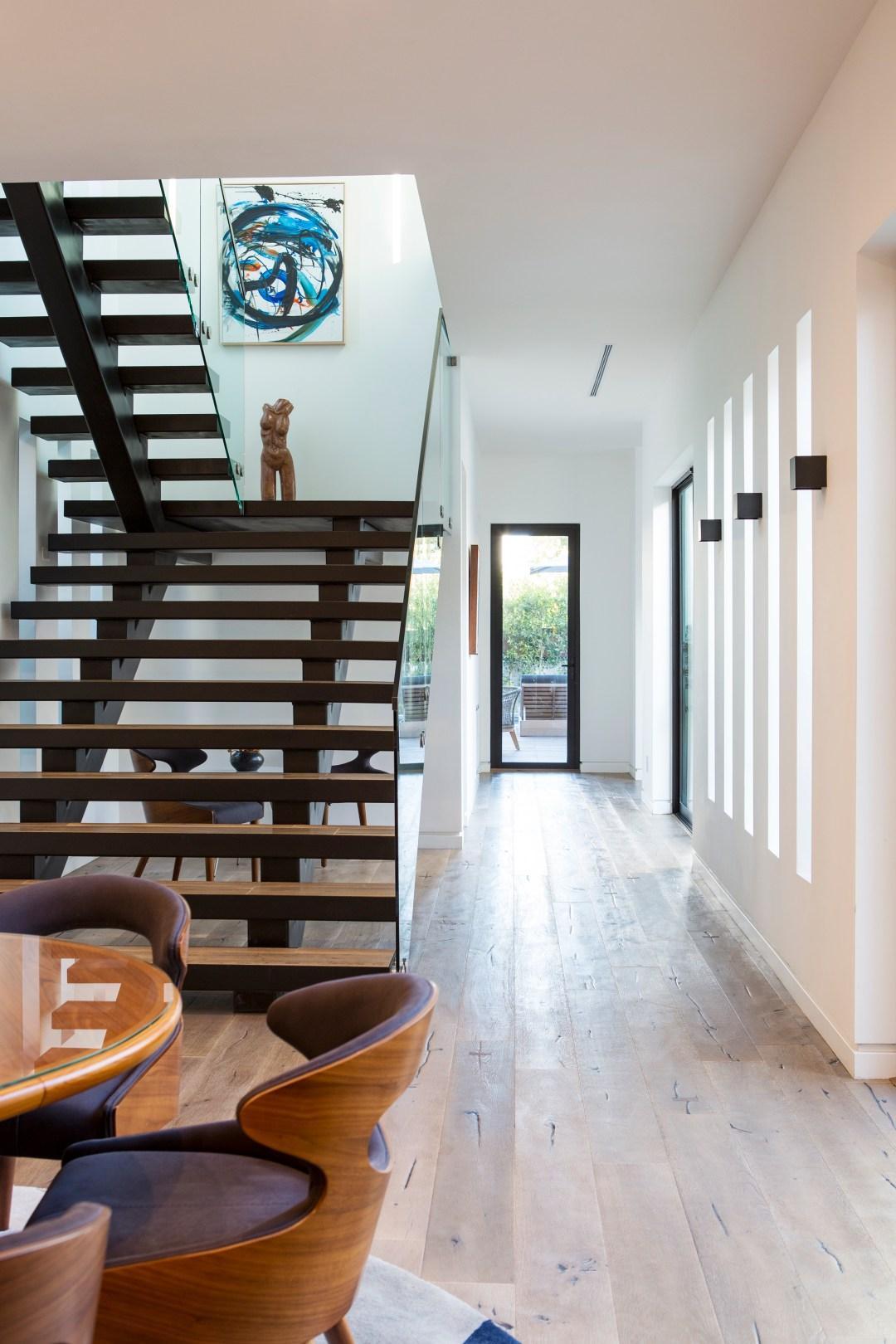 Staircase in modern Venice Beach Home