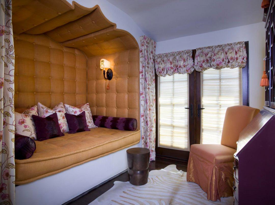 built-in meditation bed