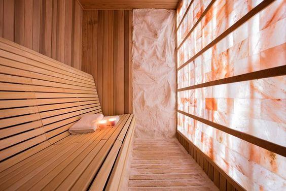 Custom Home Sauna Design Using Salt