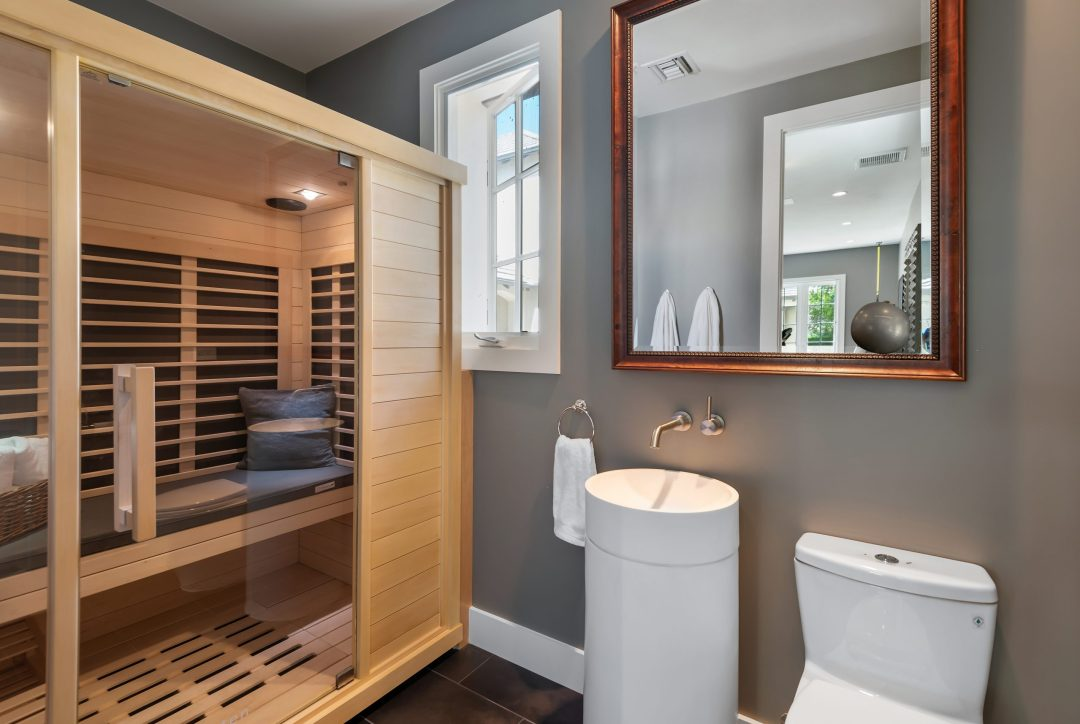 Pre-Made Home Sauna Design Lori Dennis Interior Design