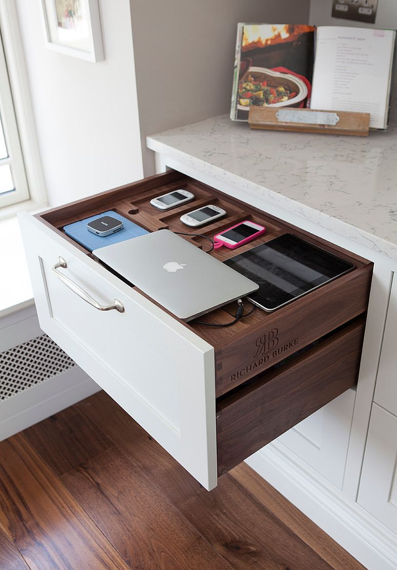 Must Have Kitchen Cabinet Accessory Charging Station