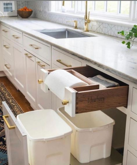 Must Have Kitchen Cabinet Accessory Pull out Trash
