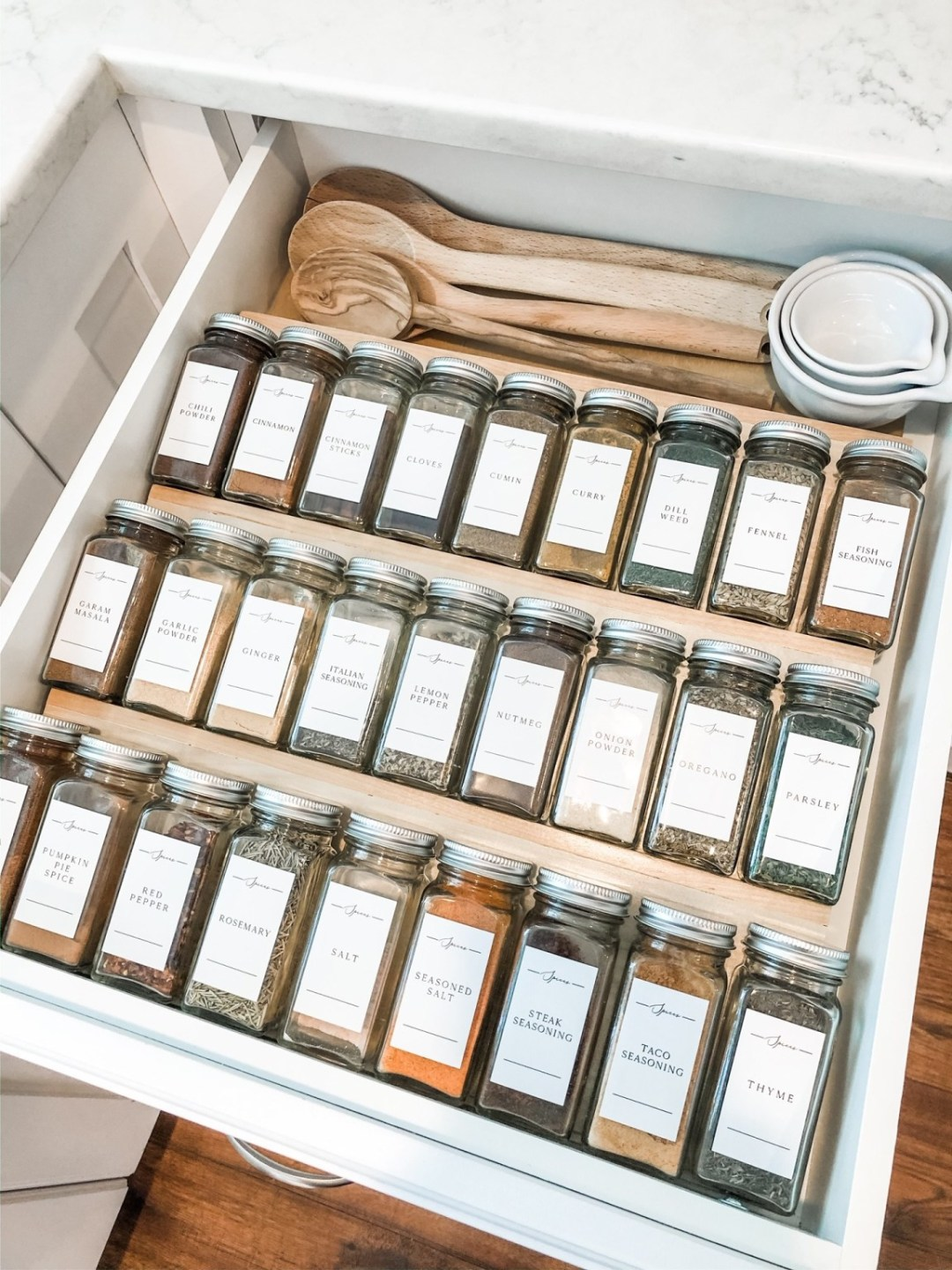 Must Have Kitchen Cabinet Accessory Spice Drawer