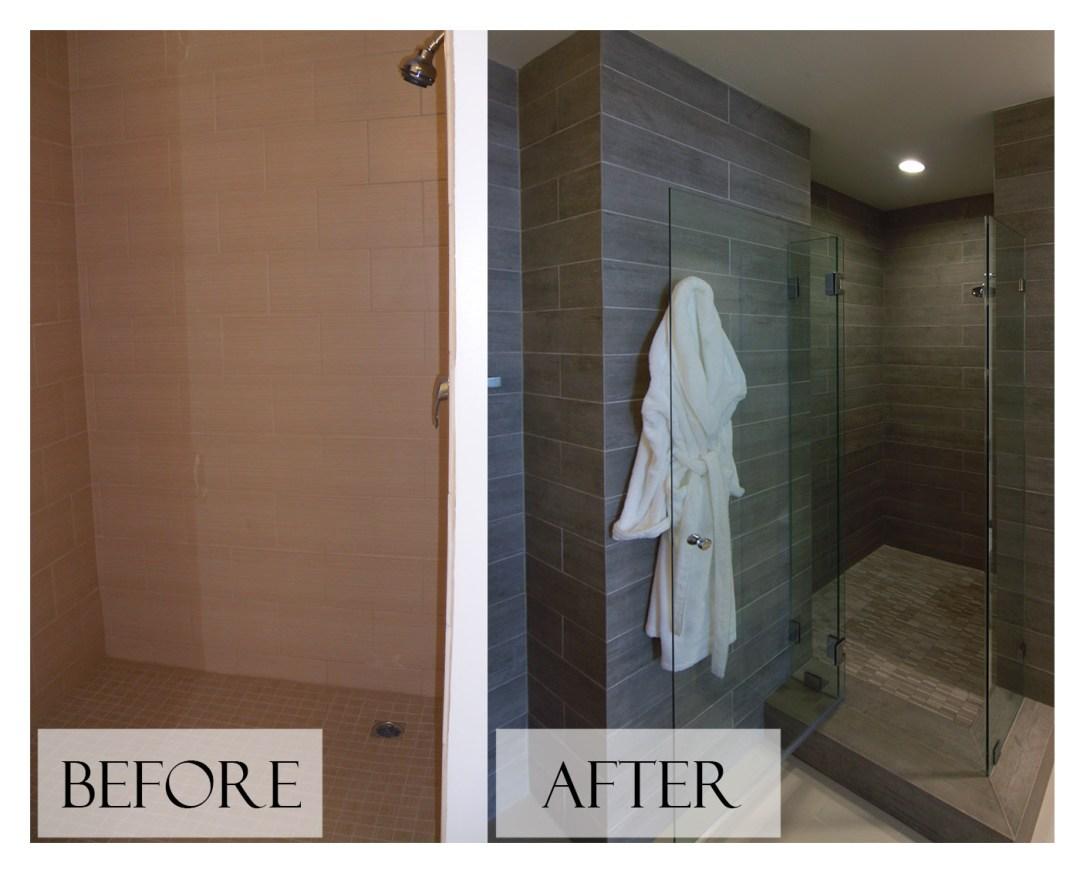 Top San Diego Interior Designer Lori Dennis Inc Before and After Bathroom