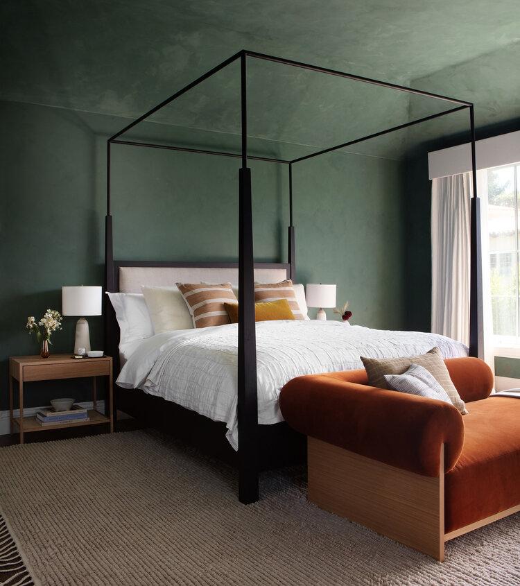 Dark Limewash Paint Bedroom
