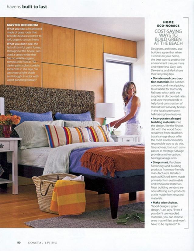 Celebrity Los Angeles Interior Designer Lori Dennis Coastal Living Magazine May 2009