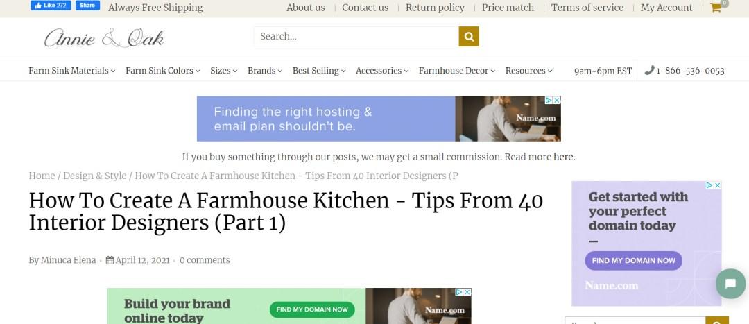 Annie and Oak Screenshot of Article