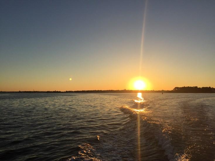 lever de soleil sur la rade de lorient