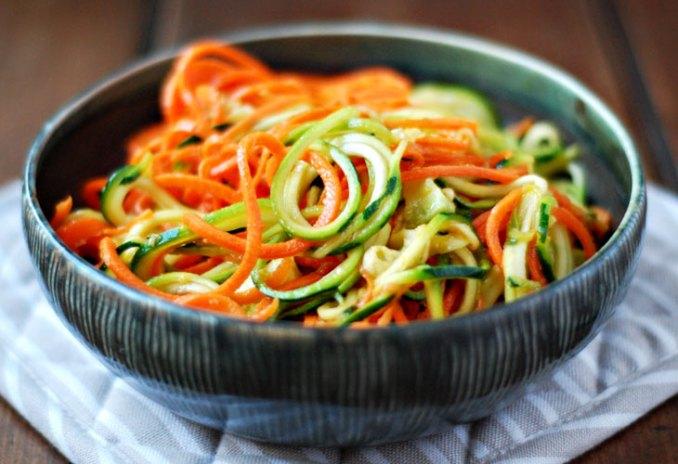Squash & Carrot Pasta with Turkey Sausage Marinara | Lori