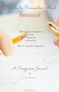 Betrayal Companion Journal