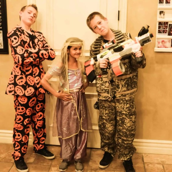 Swag Halloween Suit, Army, and Jasmine