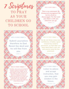 7 Scriptures to Pray as Your Children Go to School