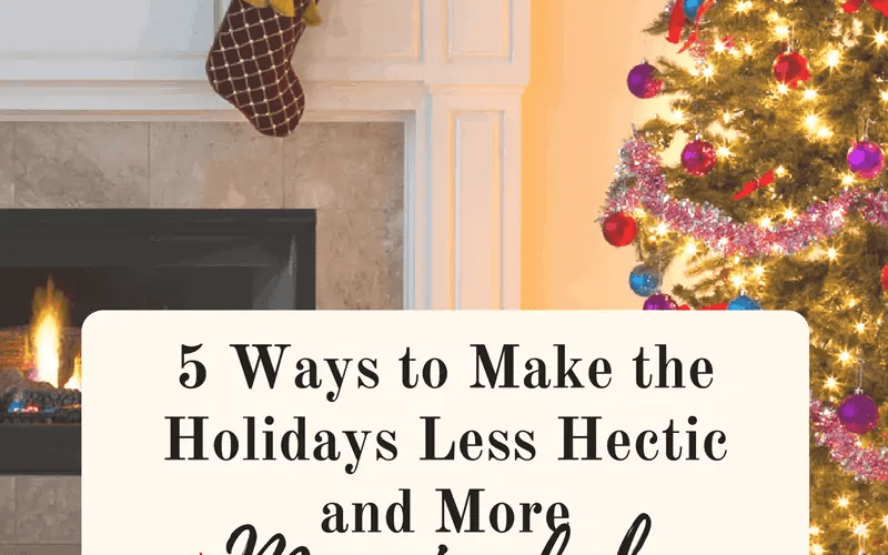 Has the holiday overwhelm managed to drown out your joy? As well as your hope? Here are 5 ways to make it less hectic and more meaningful! - Lori Schumaker for iBeleive