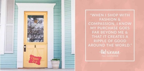 Fashion & Compassion - Giving Back Gift Options