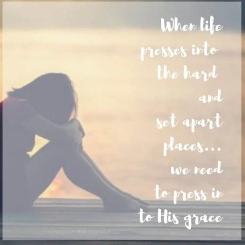 press into His Grace