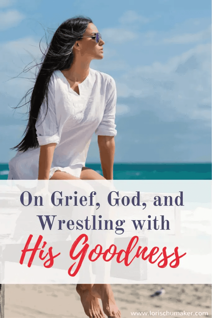 Grief is like an arduous zigzagging hike. Just as we think we've crested the mountain, another path appears. If we want to walk in victory, we have to push on. Only it's not easy and wrestling with God might just be a necessary part of the journey. - On Grief, God, and Wrestling with His Goodness #MomentsofHope - Lori Schumaker