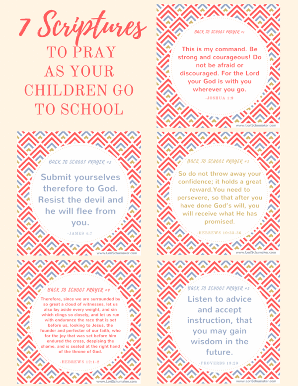 Instead of letting fear or chaos take over your life, pray these back to school Bible verses for your children. Preparing with prayer is the most powerful thing any parent can do. Print these free prayer cards for instant encouragement!  #printableprayercards #printablebibleversecards #bibleverses #hope #parenting #christianparenting #backtoschool #pandemiceducation #prayer #motherhood #godslove