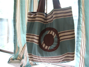 Curtain bag blue