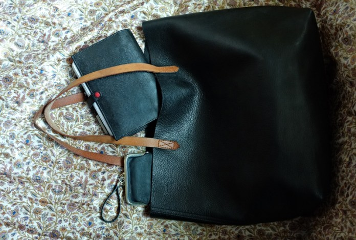 Madewell tote and Filofax