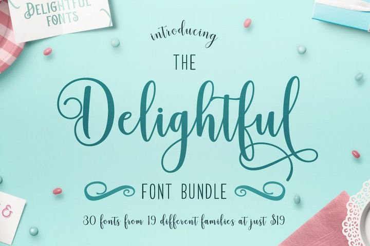 Download The Delightful Font Bundle + Free SVG - Lori Whitlock