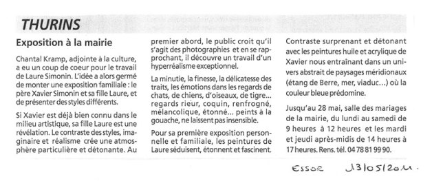 article essor laure simonin