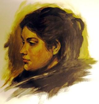 portrait acrylique