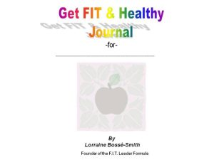 Get FIT & Healthy Journal